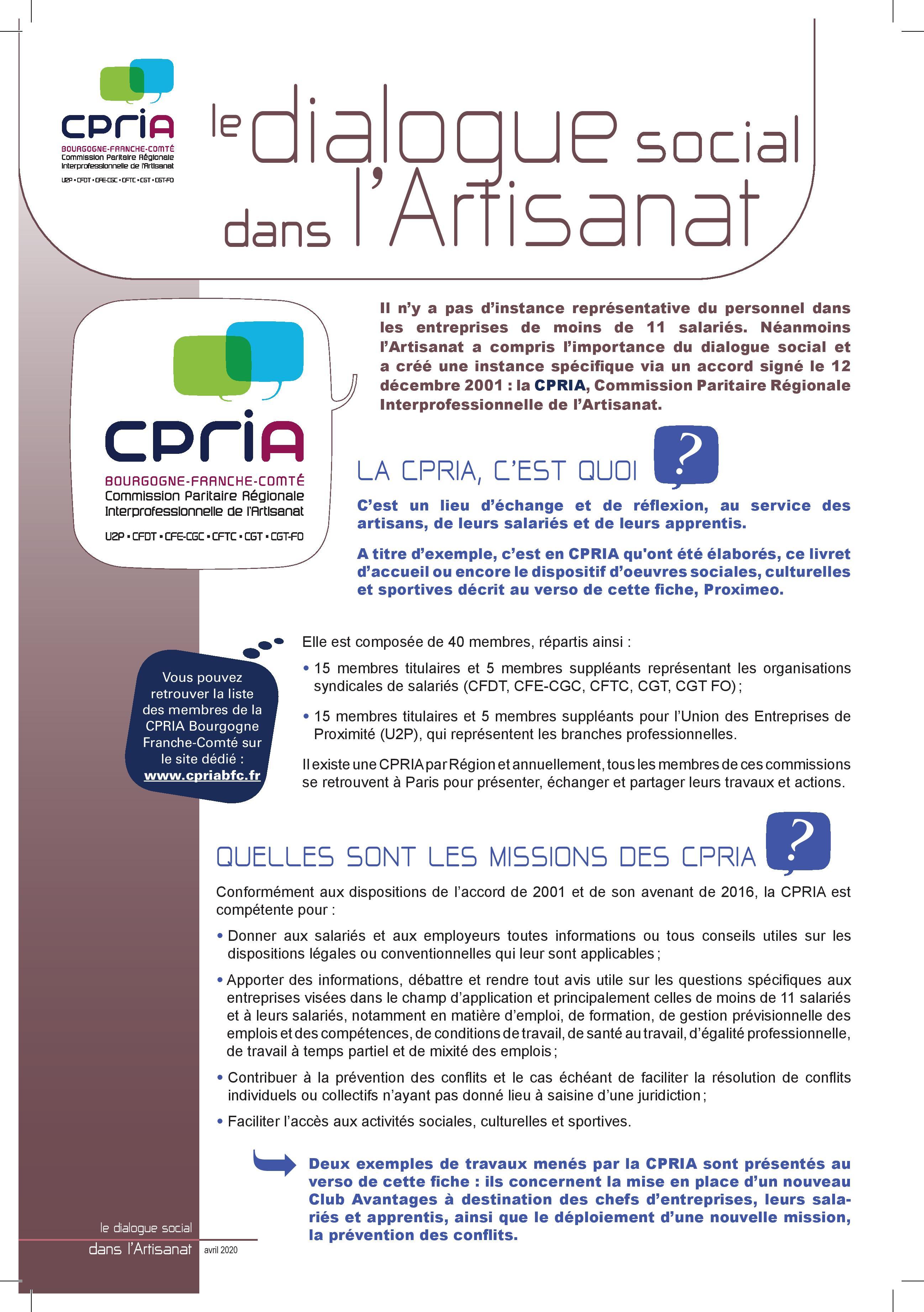 CPRIA BFC    Mise à disposition du Livret d'accueil « Bienvenue ...
